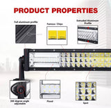 "783W CREE 52"" TRI-ROW LED light bar spot & flood"