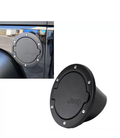 Black fuel cap cover for jeep wrangler 2 and 4 door jk 07 for 07 4 door jeep wrangler for sale