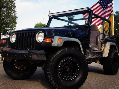 For tj 52 led light bar and brackets for 97 06 tj offroad auto parts for tj 52 led light bar and brackets for aloadofball Image collections