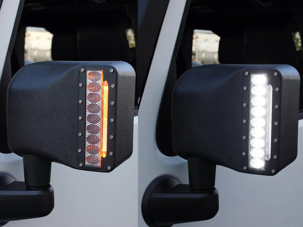 Jeep Jk Led Light Drl Turning Signal Mirrors Offroad
