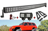 "50"" Curved Light Bar +2X18W CR For jeep XJ"