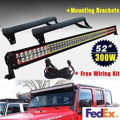"For JK 52""Light Bar+ Mounting Bracket+Wiring"