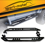 Side Step Nerf Bar Running Board Armor Bars Guard for 07-16 Jeep Wrangler 4 Door