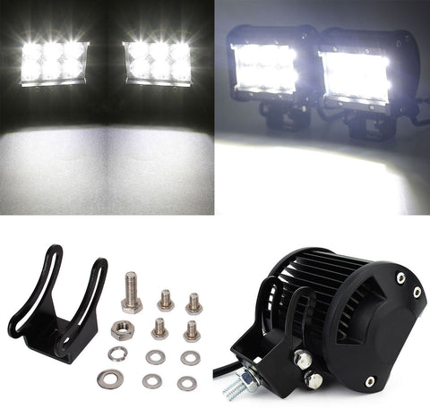 2x 4 inch 18W CREE LED Work Light Bar 4WD Off road Spot Fog ATV SUV Driving Lamp