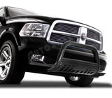 Black Stainless Bull Bar Bumper Grille Guard W/SKID For 1994-2001 DODGE RAM 1500