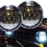 2x 7 inch 75W LED Headlight H4 H13 DRL High Low Beam For JEEP JK Wrangler