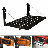 For Jeep Wrangler JK JKU 2007-2017 Foldable Tailgate Black Table Storage Rack
