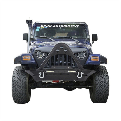 STINGER Front Bumper Built In LED Light W/ D Rings For 87
