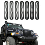 Trim Grill Grille Cover Insert Mesh Frame for Jeep Wrangler TJ 97-06