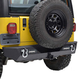 Steel Rear Bumper w/ LED Reversing Lights for 1987-2006 Jeep Wrangler YJ,TJ