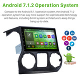 Android 7.1 Auto Radio GPS Navigation Stereo Head Unit for JEEP Wrangler 11-2014