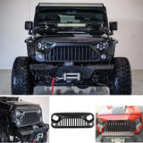 Matte Black Front Gladiator Vader Grille for Jeep Wrangler JK Rubicon 07-18