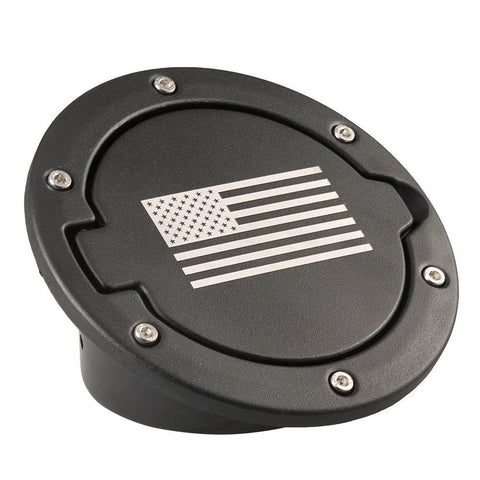 Black Gas Tank Fuel Filler Cover Cap For 2007-2016 Jeep Wrangler JK 2/4 Door