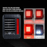 Jeep Wrangler JK 07-17 LED Tail Lights Reverse Brake Turn Signal Rear Lamps SAE