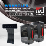 Jeep Wrangler JK LED Tail Lights Turn Reverse + 3rd Rear High Brake Smoke Lamps