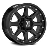 17 Inch Wheel Rims Matte Black Jeep Wrangler JK XD Series XD798 5x5 SET OF FIVE