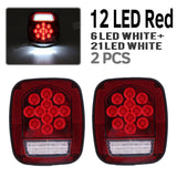 2XRed/White 39LED Truck Trailer Boat Jeep TJ CJ YJ JK Stop Turn Tail Stud LightY