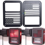 Pair Rear Tail Light Cover Guard American Flag Style for 07~15 Jeep Wrangler JK