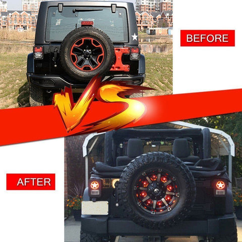 Spare Tire Brake Lights 3rd Tail Light LED for Jeep Wrangler JK JKU 2007-2018