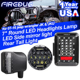Firebug Jeep JK Tail Lights, Jeep Projector LED Headlights, Jeep Side Mirrors