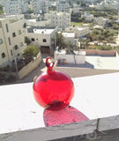 Transparent Red Hanging Blown Glass Balls Interior Designs - Own&Adore Mystic Land Painted Creations - Handmade in Palestine