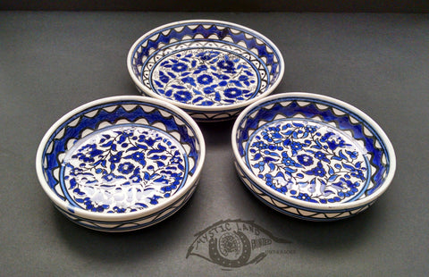 Ceramic Bowls - Blue White Flower Hour Bowls Set