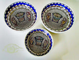 Ceramic Bowls - Set Of 3 Bread & Fish Of Jesus Bowls