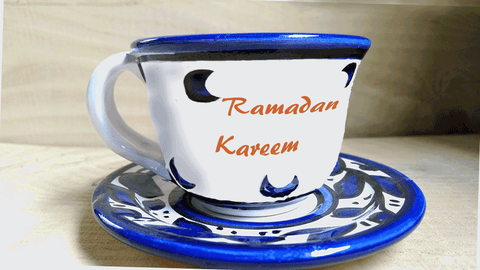 Ceramic Cups - Ramadan Quotes On Turkish Coffee Cups