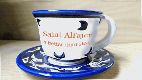 Ceramic Cups - Salat Alfajer Is Better Than Sleep