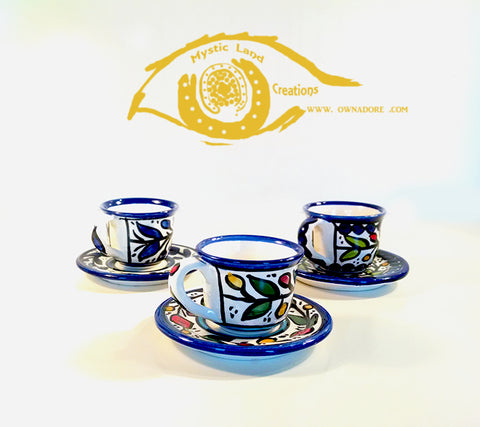 Ceramic Cups - Turkish Coffee Cup & Saucer