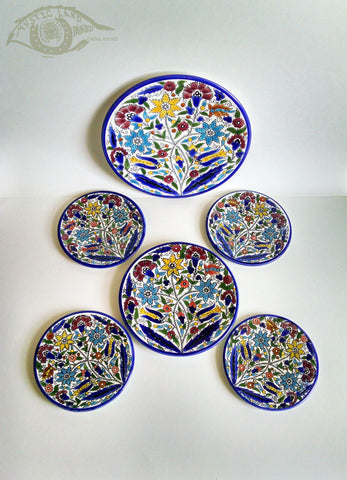 Ceramic Plates - Bouquet