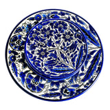 Set of 5 Cobalt Blue White Floral Plate Palestinian Arts