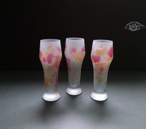 Crystal Glassware - Nolan's Party Fever _ Tall Crystal Glass _ Stained