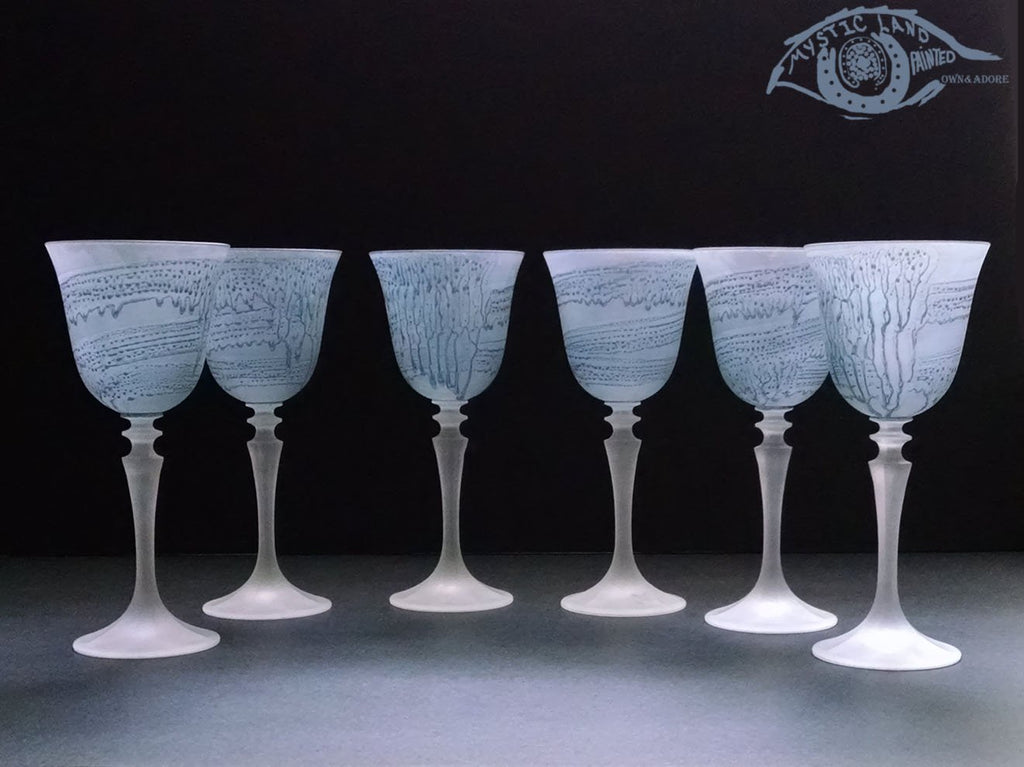 f18a651d06a4 Beautiful Lead Crystal Glass Stemware   Melting Ice Cocktail  Mystic Land -  Staining Glass Art – Own Adore