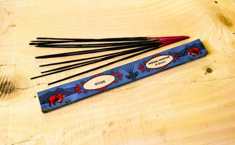 Incense Sticks - Musk, Burning Indian Incense Sticks