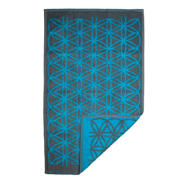 Flower of Life Towel (Grey and Blue)