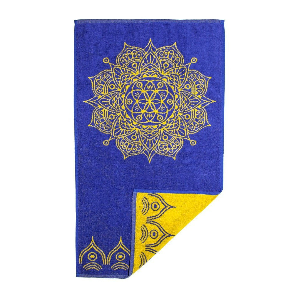 Mandala Towel (Admiral Blue and Yellow)