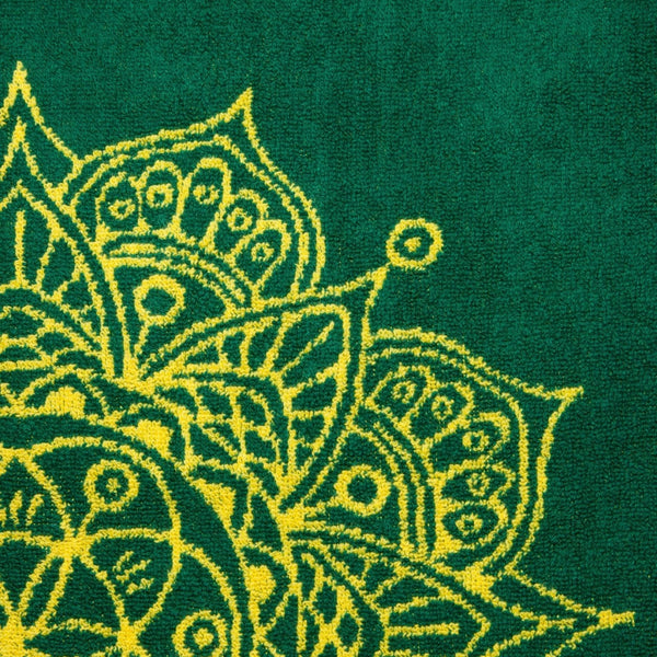Mandala Towel (Green and Yellow)