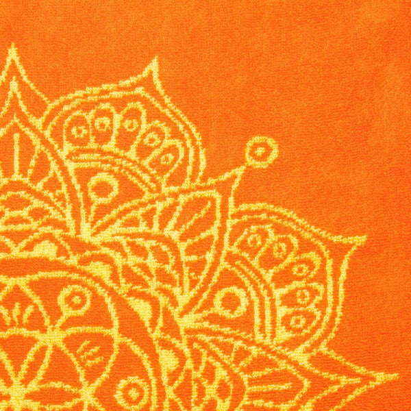 Mandala Towel (Orange and Yellow)