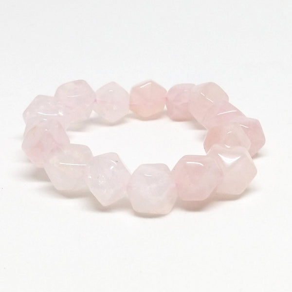 Rose Quartz Nugget Stone Bracelet