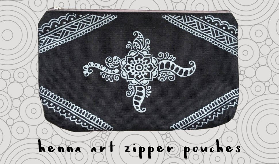 Henna Art Zipper Pouches