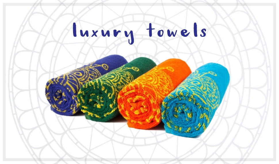 Mandala and Flower of Life Yoga Towels