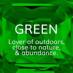 Life Path Number 4, Green: Lover of the outdoors, close to nature and abundance, Colour Theroy