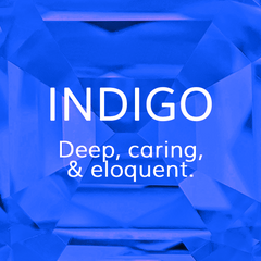 Life Path Number 7, Indigo: Deep, caring, and eloquent, and intelligence, Colour Theroy