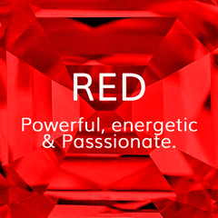 Life Path Number 1, Red: Passsionate, powerful, and energetic, Colour Theroy