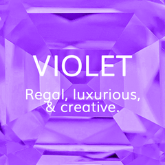 Life Path Number 6, Violet: Regal, luxurious and creative, Colour Theroy