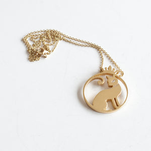 Whisker Signature Cat Pendant 18 Karat Gold