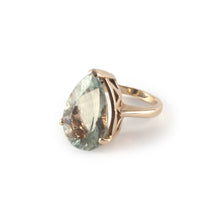 Pear Crown Ring with a 20 x 15 prasiolite gemstone set in 9 ct gold.