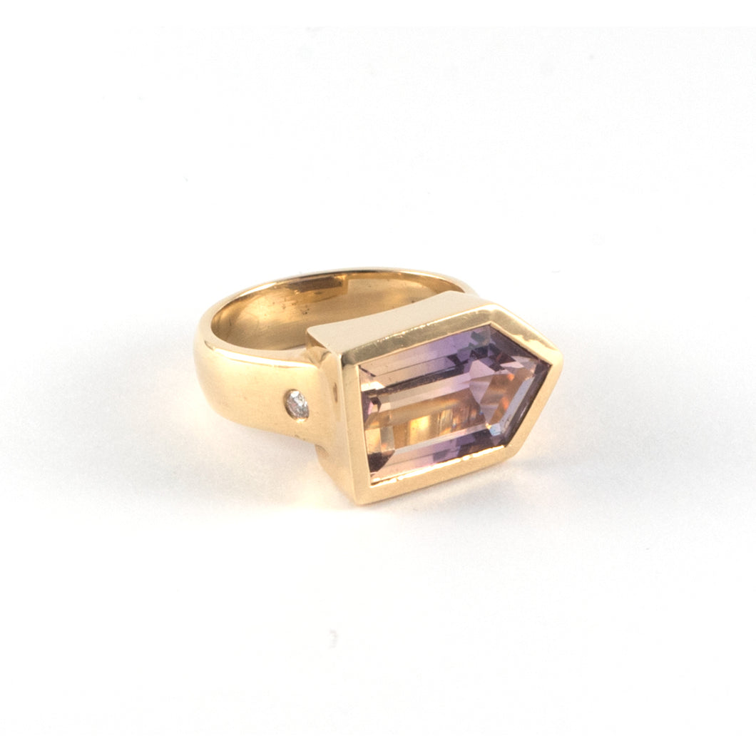 Ametrine 18ct Gold Ring