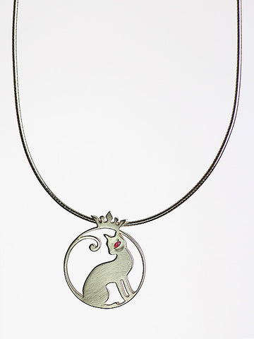 Missy independant silver cat pendant forde jewellery missy independant silver cat pendant mozeypictures Image collections